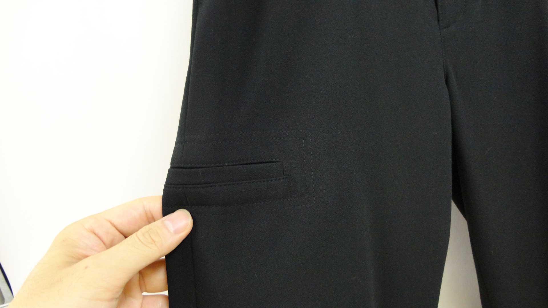 718スウェット型パンツ黒b4