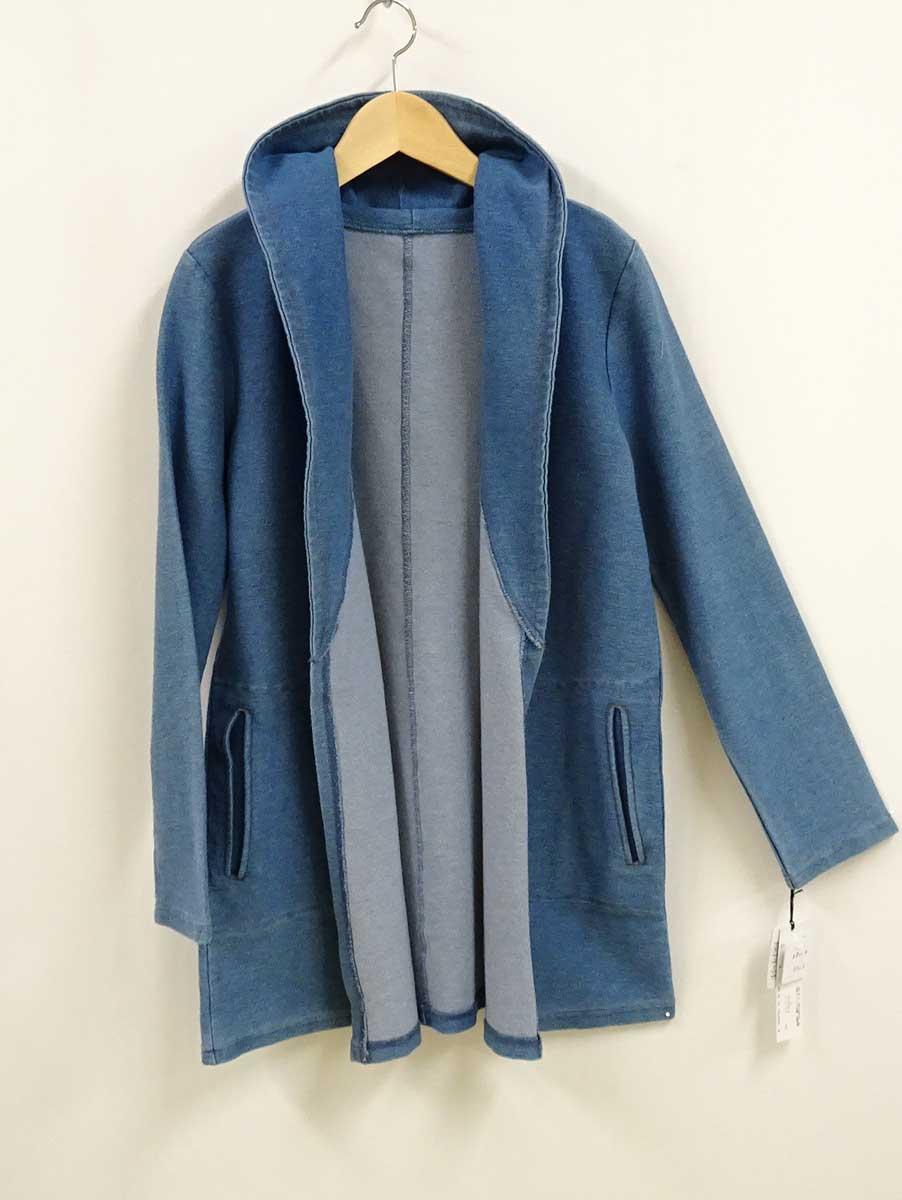 ストレッチカジュアルジャケットのデニム色