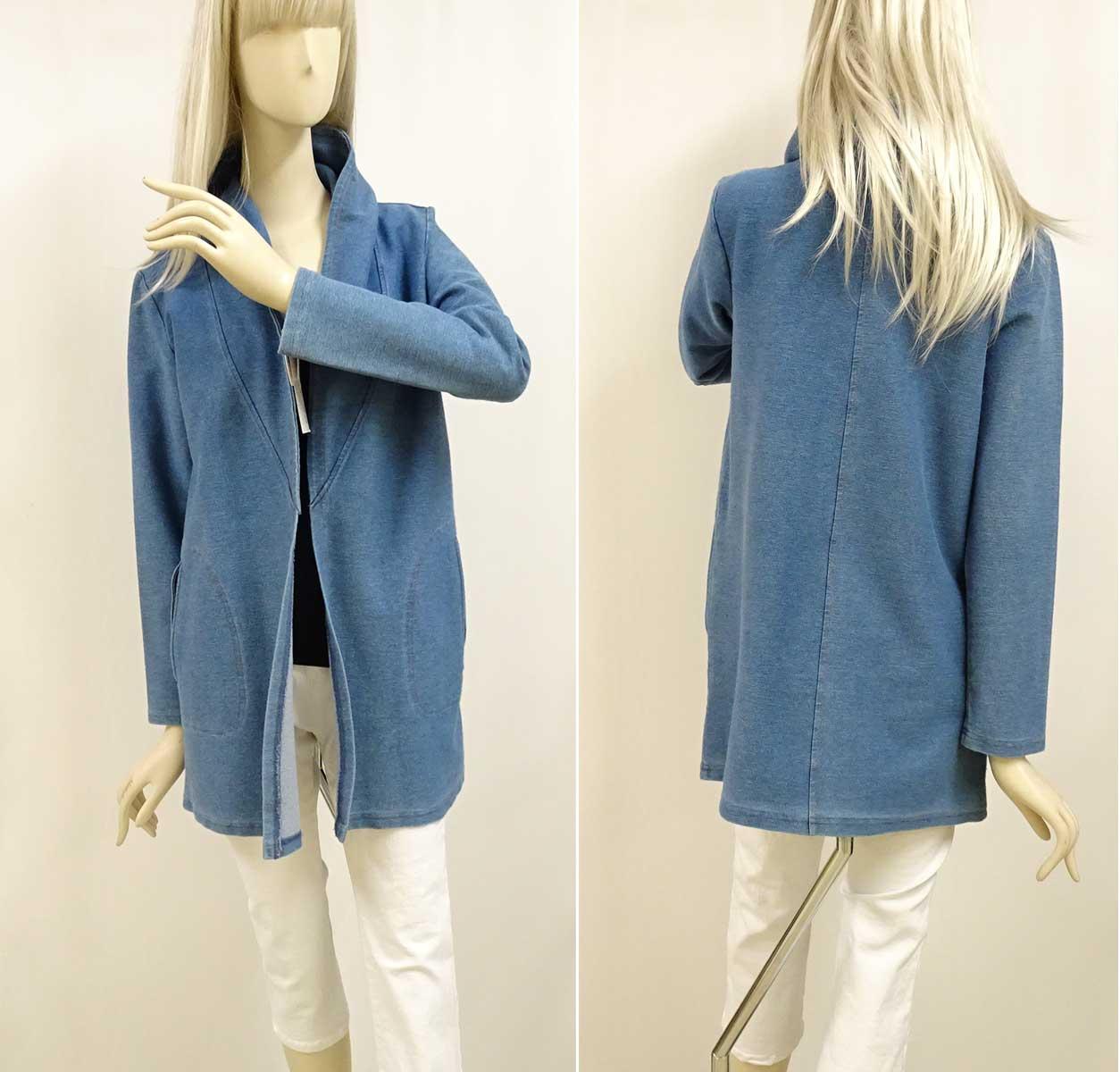 ストレッチカジュアルジャケットのデニムカラー