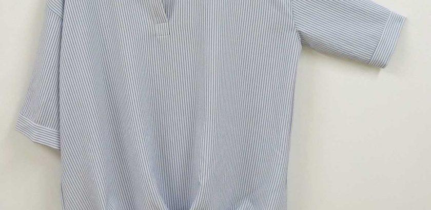 1906シャツ型ブラウスストライプ3