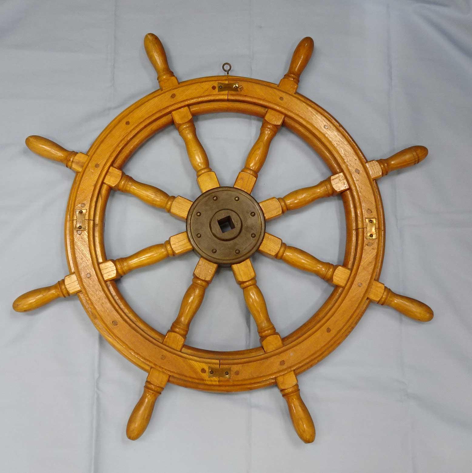 船の操舵ハンドルアンティーク中古