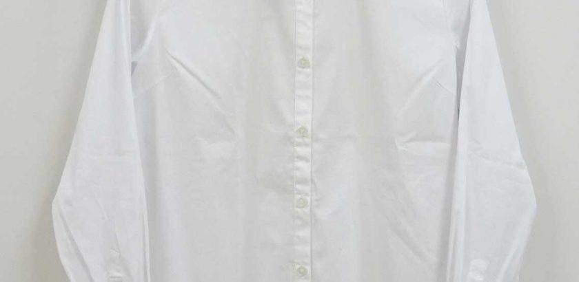 襟付きの白いシャツ大きいサイズ